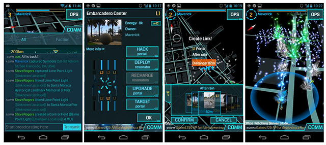 Le jeu Ingress sur Android Phone